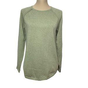 Jeanne Pierre Green knit Sweater Sz M